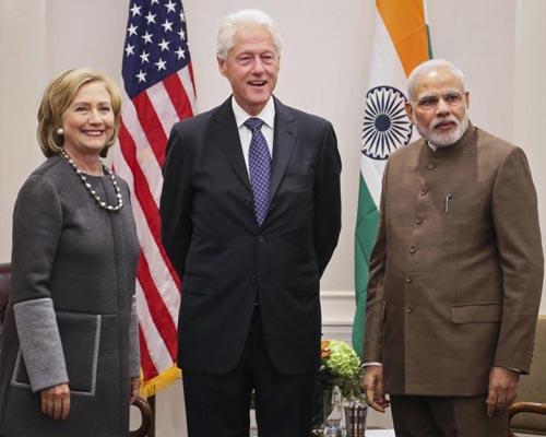 Clintons appreciate PM Modi's clean Ganga initiative