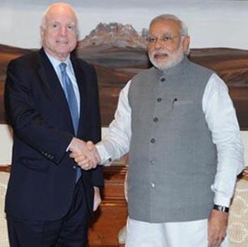 Narendra Modi, John McCain