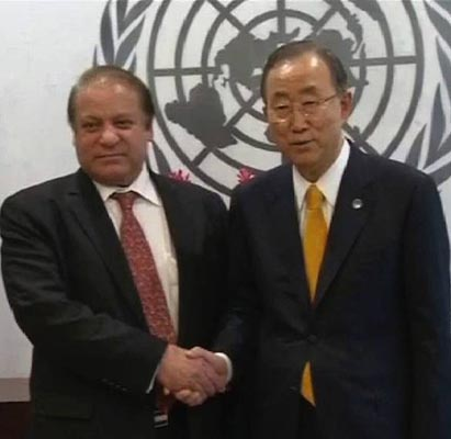 Sharif urges UN Secretary General for peaceful settlement of Kashmir dispute