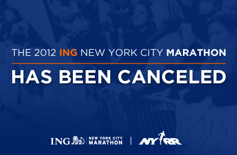 NYC marathon finally cancelled in aftermath of super storm Sandy