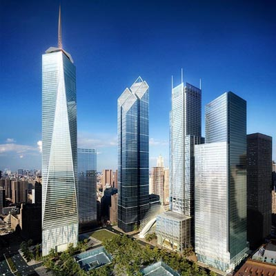 New York's Freedom Tower, tallest building in the Americas
