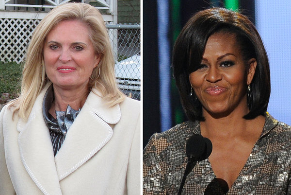 Michelle Obama and Ann Romney in cookie face off