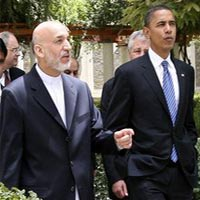 Obama calls Karzai, reaffirms transition by 2014