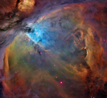 How planet-forming dust and gases in Orion Nebula are blasted off