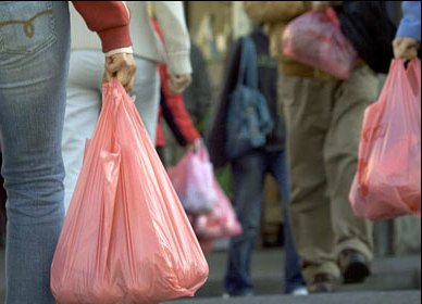 Plastic shopping bags can be converted into petroleum products