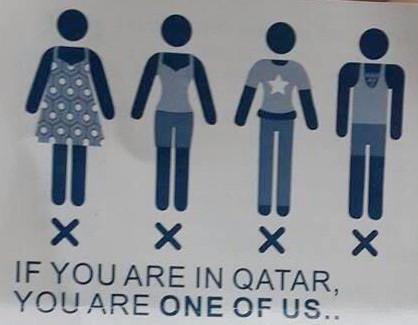 Qatar's new campaign 'reflect your respect' prohibits tourists from wearing shorts, skirts, sleeveless tops