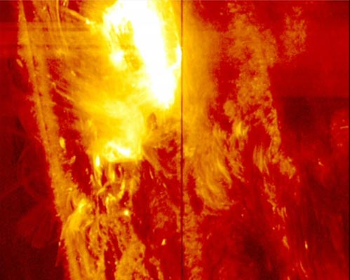 Giant solar flare welcomes earth