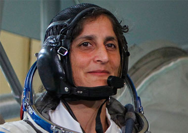 Sunita Williams arrives at her new home in space