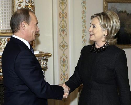 Putin takes dig at Hillary Clinton saying better not to argue with women