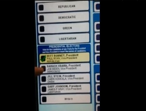 Voting machine 'changes vote for Obama to Romney' in Pennsylvania
