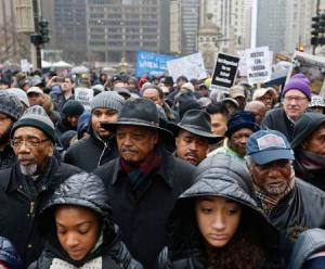 Protest breaks out on Black Friday in Chicago