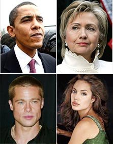 Obama Is Brad's, While Clinton Is Jolie's Distant Cousin!