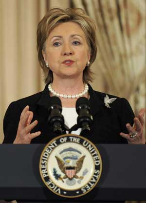 Hilary Clinton criticizes China''s ''worsening'' human rights record