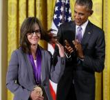 Obama presents National Medal of Arts to Sally Field, says `we really like you`