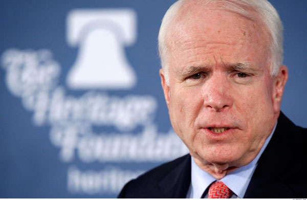 'Might be wise' for Obama to replace Biden with Hillary Clinton: McCain