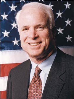 In 2009 U.S. President John McCain, visiting Libya with Defense Secretary Lindsey Graham, assured that countrys national security advisor, Mutassim Qaddafi, son of dictator Muammar Qaddafi, that relations between their two nations were on the mend after years of strain under McCains predecessors.