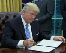 Trump signs executive order enabling construction of wall on U.S.-Mexico border